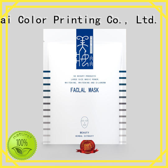 Quality Yucai Brand facial plastic face mask packaging