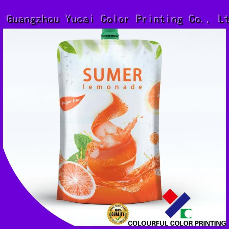 spouted packaging drink pouches spouted Yucai Brand