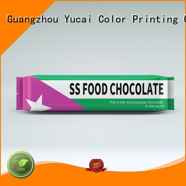 plastic chocolates bags Yucai Brand chocolate bar packaging factory