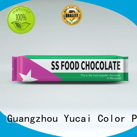 chocolate bar packaging packaging bags plastic Yucai Brand chocolate packaging