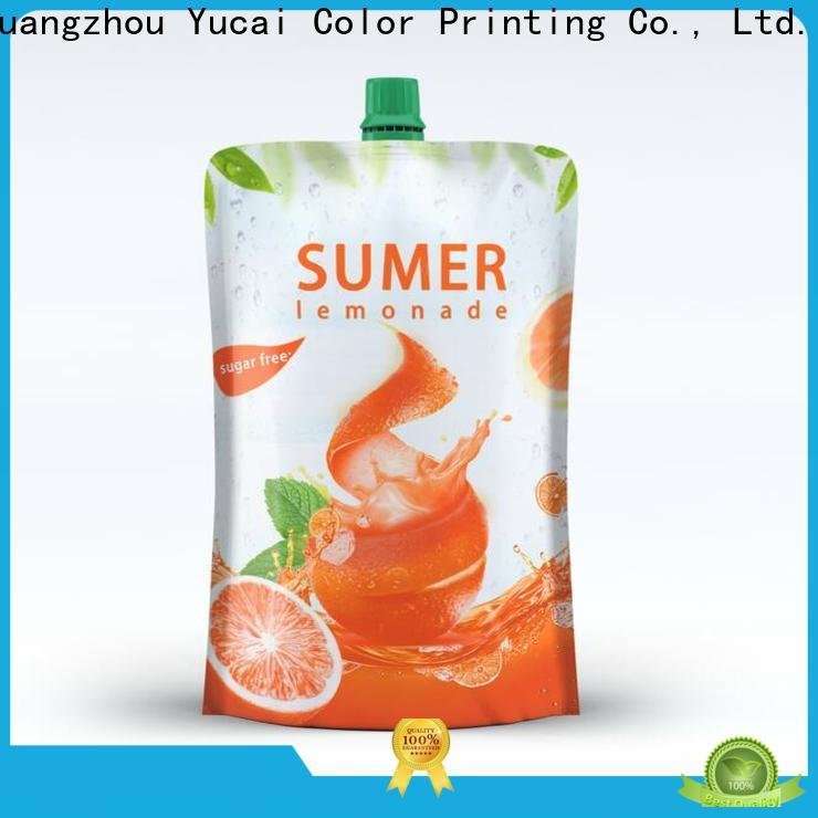 Yucai drink pouches with good price for commercial