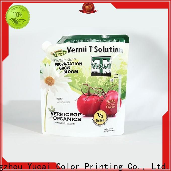 Yucai hot selling fertilizer packaging directly sale for drinks