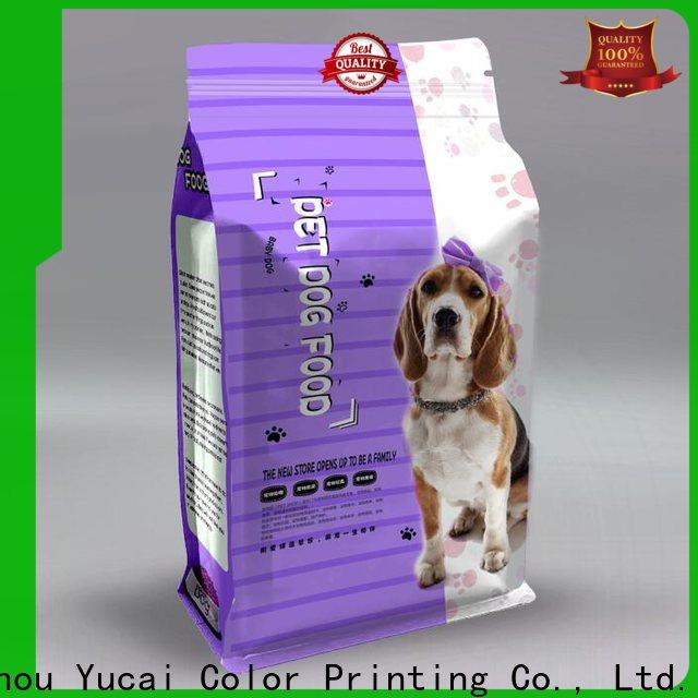 Yucai pet food packaging customized for commercial