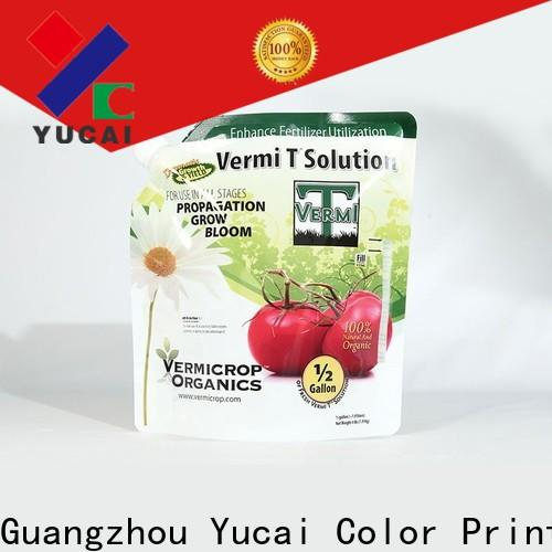 Yucai stand up bags directly sale for industry