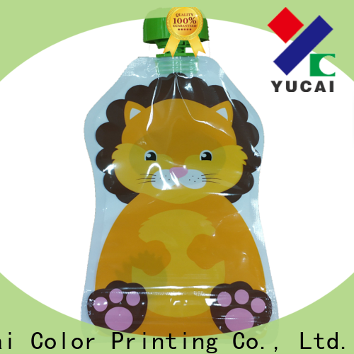 Yucai approved beverage pouches design for commercial