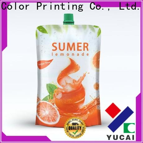 Yucai beverage pouches design for industry