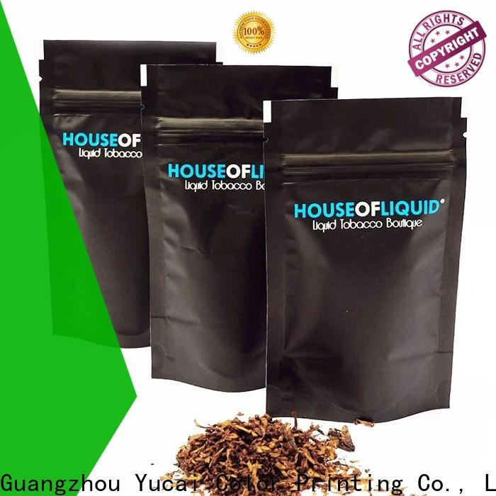 Yucai stable tobacco pouch factory price for drinks