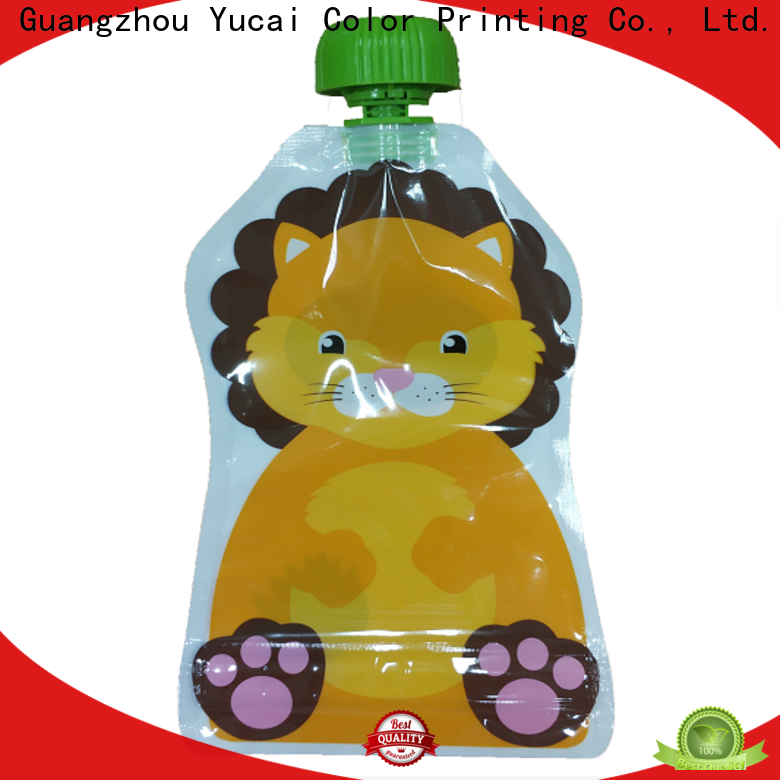 Yucai approved pouch packaging design for commercial
