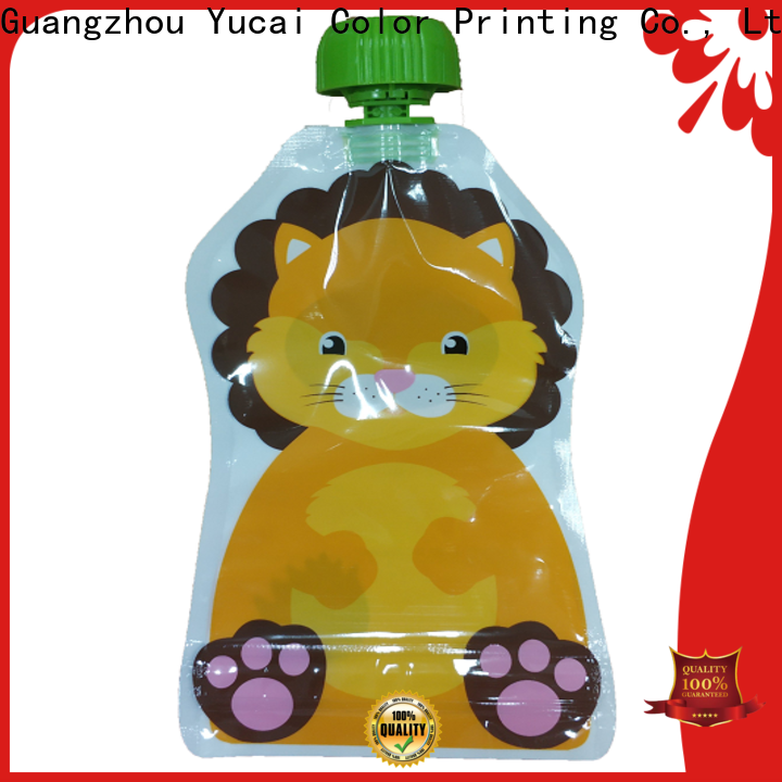 Yucai approved pouch packaging with good price for food