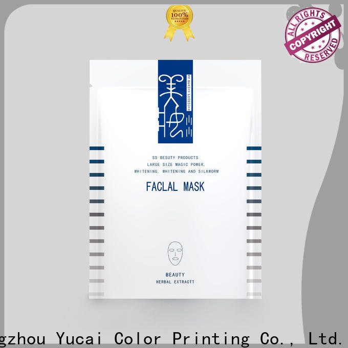Yucai hot selling face mask packaging from China for drinks