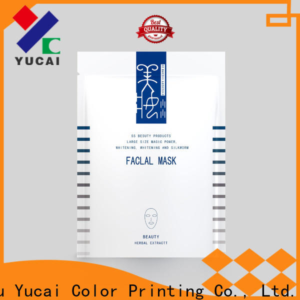 Yucai face mask packaging customized for commercial