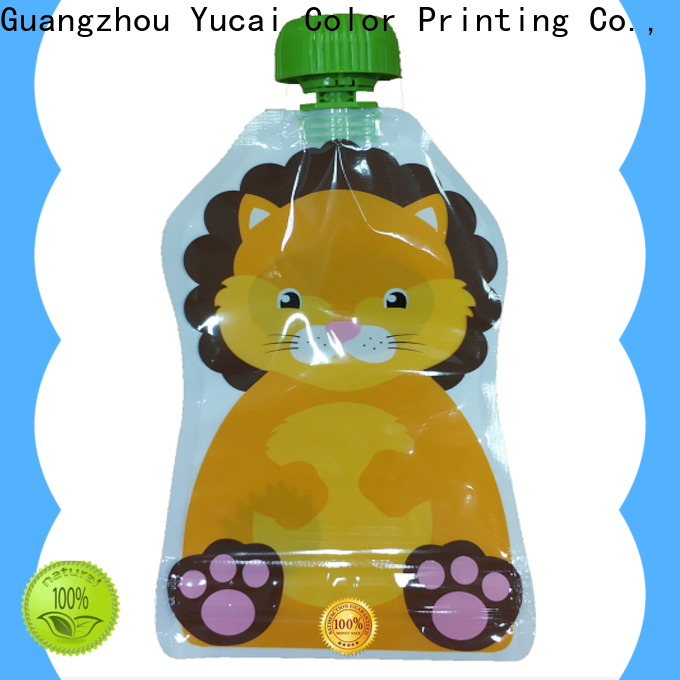 Yucai spouted drink pouches inquire now for commercial