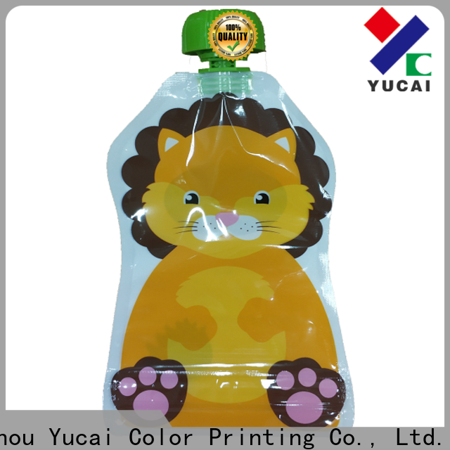 Yucai beverage pouches with good price for drinks