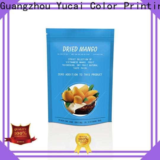 Yucai excellent food packaging bags design for commercial