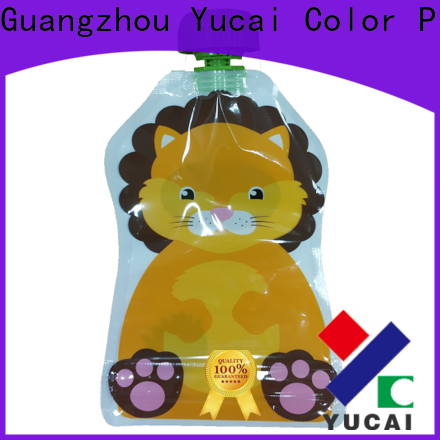 Yucai reusable beverage pouches design for industry