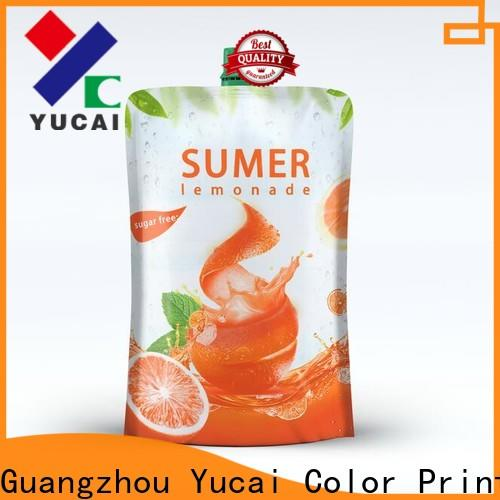 Yucai drink pouches design for industry