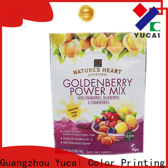 Yucai top quality food packaging supplies design for commercial