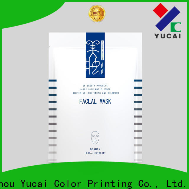 Yucai face mask packaging manufacturer for industry