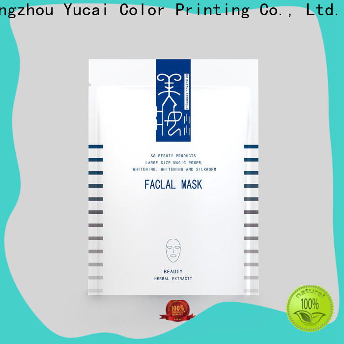 Yucai face mask packaging from China for food