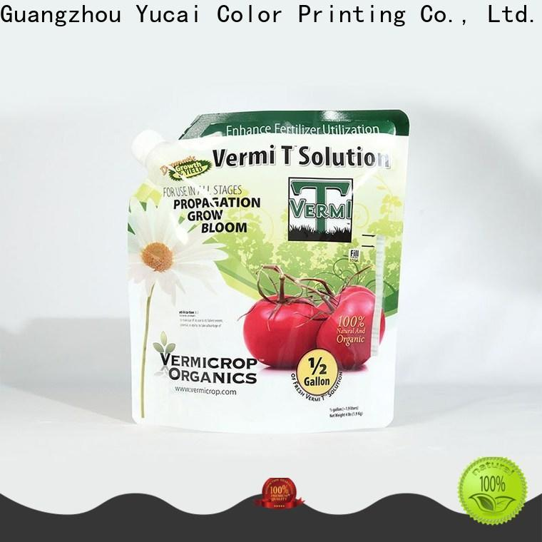 Yucai reliable stand up bags series for industry