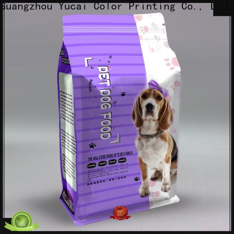 Yucai flat pet food packaging customized for food