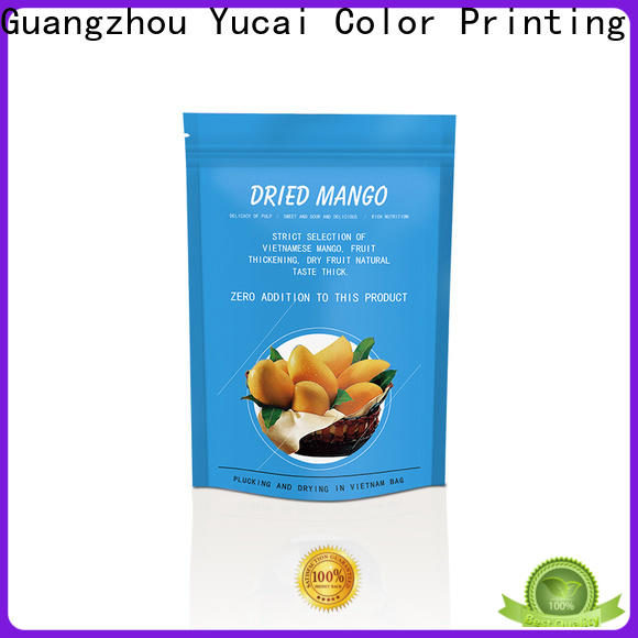 Yucai printed food packaging bags inquire now for commercial