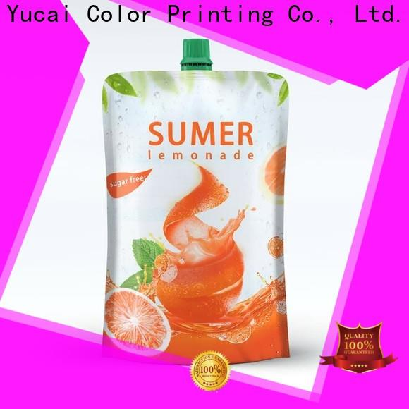 Yucai pouch packaging with good price for drinks
