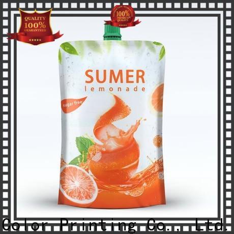 Yucai beverage pouches design for commercial